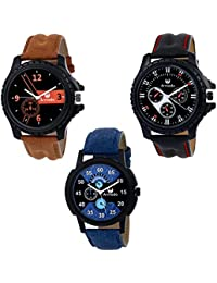 Armado AR-611251 Combo Of 3 Modish Analog Watches -For Men