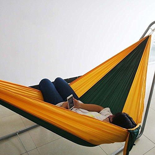 QAZSE QAZE Fallschirm Tuch Hängematte Doppel Single Outdoor Camping Tourismus und Freizeit,Style-Size,190CM*140CM-F F/ Scrim