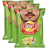 Lays Potato Chips, American Style Cream and Onion Flavour, 25g (Pack of 3) Promo Pack