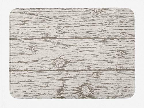 Rustic Bath Mat, Oak Tree Surface Pattern Woods Theme Horizontal Board Plank Nature Artsy Design, Plush Bathroom Decor Mat with Non Slip Backing, Coconut Dust,19.6X31.4 inch/50 * 80cm Cabin Cutting Board