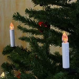 30er set led christbaumkerzen kabellos inkl fernbedienung weihnachtsbeleuchtung - Weihnachtsbeleuchtung led kabellos ...