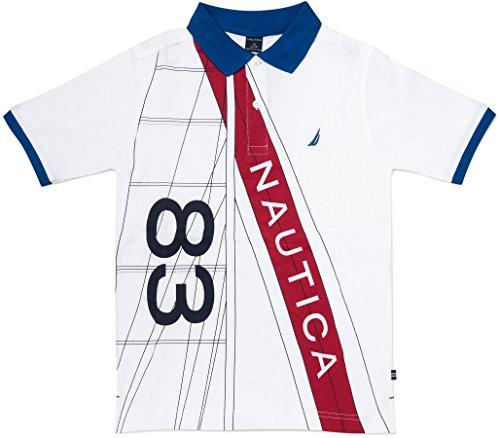 Nautica Jungen Short Sleeve Heritage Polo Shirt Polo Hemd - weiß - Large (Weißes Hemd Jungen Nautica)