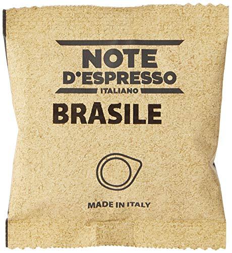 Note D'Espresso - Bolsitas de café de Brasil monodosis, 7g caja de 150 bolsas de papel