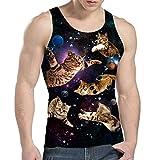 Idgreatim Juniors Katzen-T-Shirt lustiges Grafik-Trägershirt