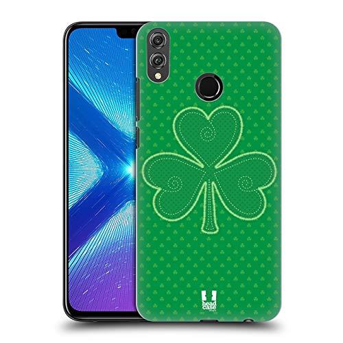 Head Case Designs Applique Shamrock Muster Harte Rueckseiten Huelle kompatibel mit Huawei Honor 8X / View 10 Lite - 10 Applique