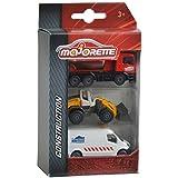 Majorette 2057341 - Vehículo de juguete   (Multicolor, Caja con ventana), Set 3 piezas, Modelos Surtidos