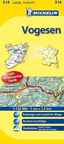 Michelin Vogesen: Straßen- und Tourismuskarte