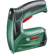 Bosch DIY Akku-Tacker PTK 3,6 LI, 1000 Klammern, Ladegerät, Metalldose (3,6 V, Klammern 4-10 mm, Schläge: 30 min–1)