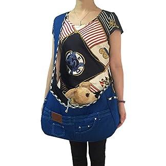 Pineocus Dark Blue Denim Pet Dog Sling Carrier Bag (dark blue) 51k2DgO6w2L