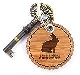 Mr. & Mrs. Panda Rundwelle Schlüsselanhänger Hase - Kaninchen, Hase, Häschen, Haustier, zahm, Löwenzahn, Landhaus, Cottage, Ostern, Easter Schlüsselanhänger, Anhänger, Taschenanhänger, Glücksbringer, Schlüsselband