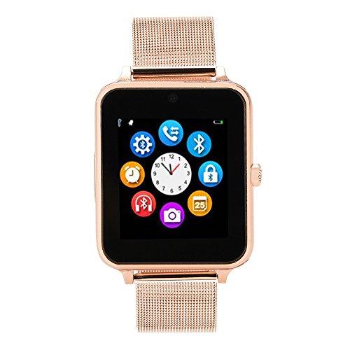 Neubula Z60 Smartwatch, Fitness Armband Wasserdicht Intelligente Fitness Tracker mit Musik Steuerung Schlafmonitor Vibrationsalarm Anruf Nachricht Benachrichtigung Push Damen Herren für Android iOS