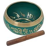 Aone Indien Prisha Indien Best Qualität Grün Klangschale Musical Instrument für Meditation 14cm + Cash Umschlag (10Stück)