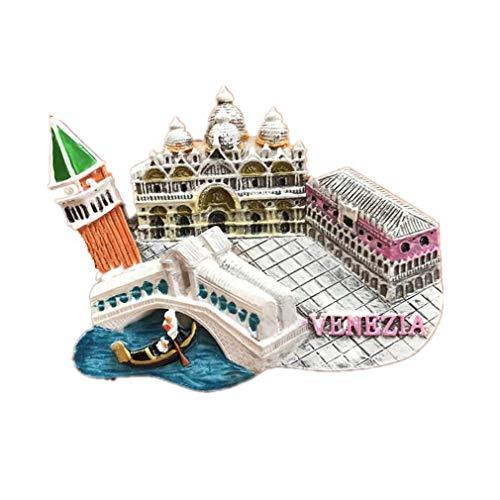 Bella Magnet Frigo Aimant Frigo Aimant Réfrigérateur Décor Voyage Vacances Souvenir de Italie Venise Clocher de San Marco Eglise de San Giorgio Maggiore Fridge Magnet Sticker