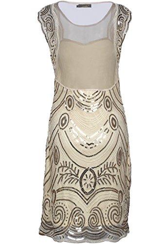 Babeyond Frauen Flapper Kleider Zwanziger Jahre Sequined Beaded Große Gatsby Kleid Abbildung 3