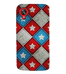For LG Nexus 5 :: LG Google Nexus 5 chess, star, star pattern, row pattern Designer Printed High Quality Smooth Matte Protective Mobile Pouch Back Case Cover by BUZZWORLD