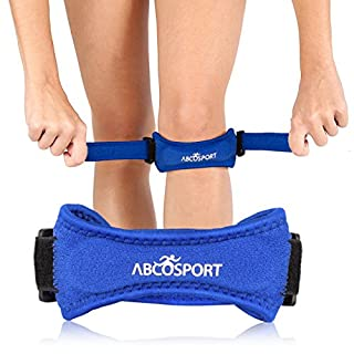 AbcoTech Patella Knee Strap for Knee Pain Relief for Hiking, Soccer, Basketball, Volleyball & Squats (1 Piece) (Blue)