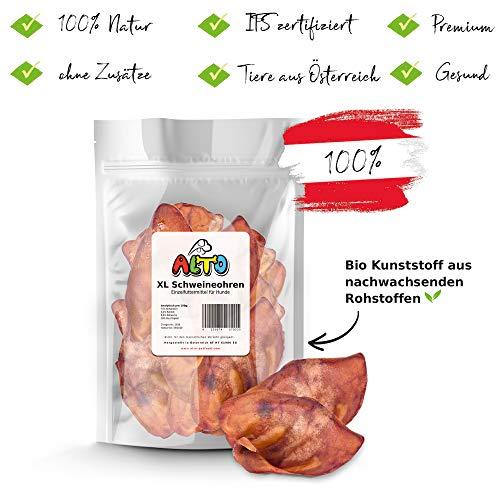 Alto-Petfood - 1200g Ganze Schweine-Ohren | getrocknete Schweineohren Hunde