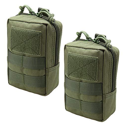 Magarrow Tactical Molle Pouch Multifunktions-Hüfttasche zum Aufhängen, Green- 2pcs -