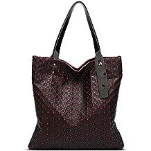 kaoling Bolso de hombro geométrico de las mujeres Bolso de la marca famosa del logotipo del
