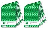 SIGEL KA518/10 Kassenbericht / Bestandsrechnung A5, 10 Stück á 50 Blatt