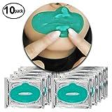 10 x Grüne Algen Kollagen Gel Kristall Lippen Falten Masken Feuchtigkeitsspendend