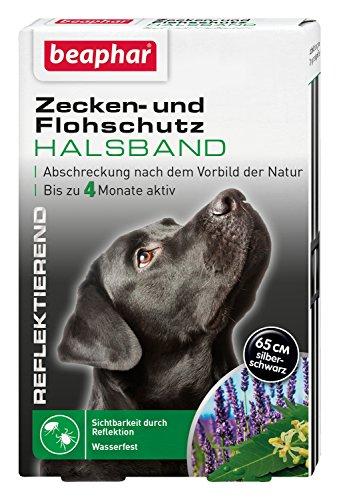 beaphar Zecken- & Flohschutz Halsband für Hunde | Zeckenschutz für Hunde | Reflektierendes Halsband Gegen Zecken & Flöhe | Wasserfest | 1 Stk
