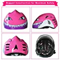 XJD Kids Multi-Sport Bike Helmet Shark Adjustable Safety Helmet for Roller Skating Skateboard BMX Scooter Cycling 3-12 Years Old Boys and Girls from XJD
