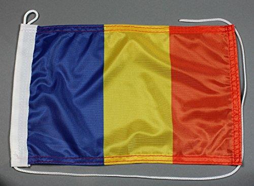 Preisvergleich Produktbild Bootsflagge Rumänien 20 x 30 cm in Profiqualität Flagge Motorradflagge