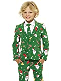 Opposuits Weihnachtsanzüge für Jungen in Verschiedenen Drucken - besteht aus Sakko, Hose und Krawatte
