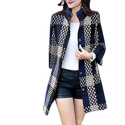 Yowablo Outdoorjacke Regenjacke Jacke Damen Übergangsjacke Jacke Damen Steppjacke Jacke Damen Jeans Jacke Damen Winter Mäntel Kapuzenpullover Damen Sweater (4XL,Blau)