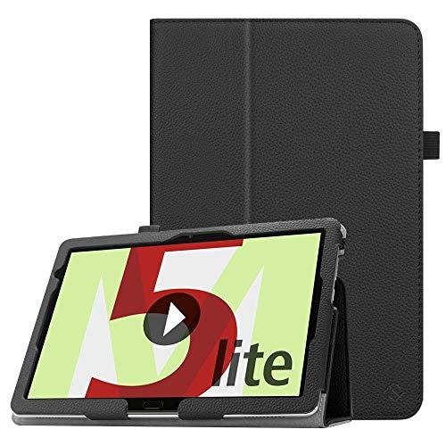Fintie Hülle Case für Huawei MediaPad M5 Lite 10 - Ultra Schlank Folio Kunstleder Schutzhülle mit Auto Sleep/Wake Funktion für Huawei MediaPad M5 Lite 10 10.1 Zoll 2018 Tablet PC, Schwarz