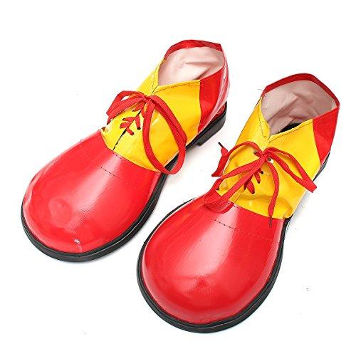 (Changlesu Erwachsene 1 Paar Halloween Clown Schuhe Stiefel Kleid Dekoration Schuhe Zubehör Unisex Comedy Fancy Kostüm Party Events Supplies (Rot))