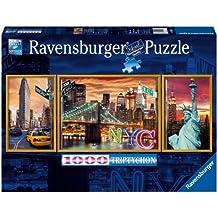 Ravensburger - Panorama tríptico: resplandeciente Nueva York, puzzle de 1000 piezas (19995 2)