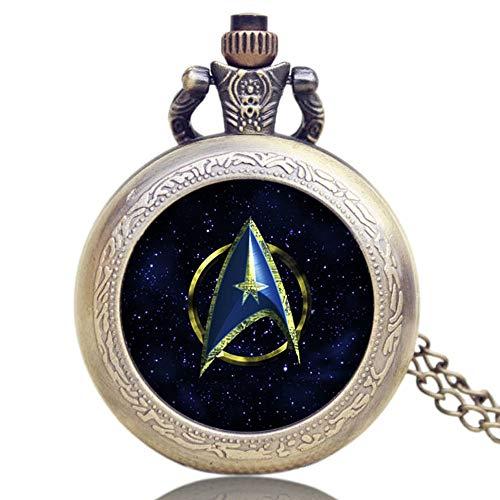 Vintage Taschenuhr, Star Trek Thema, Taschenuhr für Herren, Cooles Taschenuhr-Geschenk