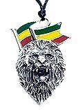 Eclectic Shop Uk Lion of Judah Colgante Rasta Bob Marley ETIOPÍA Jamaica Esmalte Collar