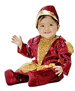 Joker q716-001-Princesa Disfraz de carnaval en Busta, Borgoña y dorado