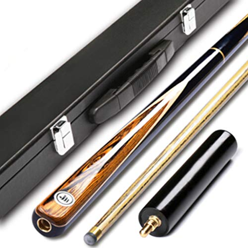 xihongshi Pool Queues, Small Head Club Snooker Queue Stick 3/4 Split Billard Bar mit Rod Box, Länge 145cm - 0.75-unzen-bar