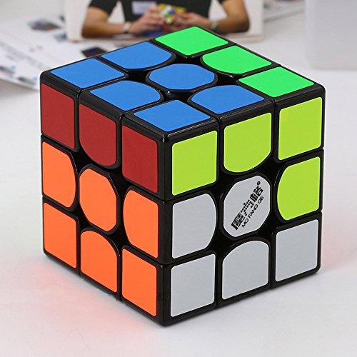 Qiyi MoFangGe THUNDERCLAP Professional Speed Cube Magic Cube Brain Game Puzzle 3x3x3 - BLACK