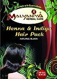 Malvaniya Herbal Care Henna Indigo Powder Hair Pack 100% Natural Hair Dye Black