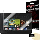 TECHGEAR® Amazon Kindle Fire HD 7.0 inch 2013 / 3rd Gen / CLEAR LCD Screen Protector With Cleaning Cloth + Application Card