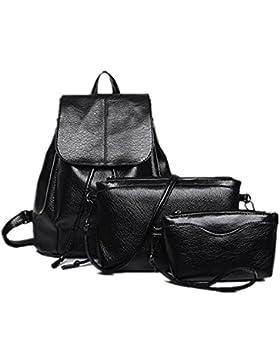 Zarupeng Frauen Rucksäcke drei Sets der Schulter für Teenage wasserdichte Reisetasche
