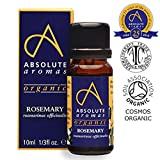 Absolute Aromas Organic Rosemary Essential Oil 10ml - 100% Pure, Natural, Certified Organic and Undiluted - For use in Diffusers and in Aromatherapy Blends