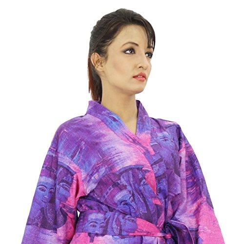 Les femmes portent Obtenir court Coton Robe demoiselle honneur Spa Prêt Robe pourpre