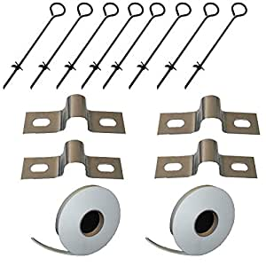 Polytunnel Greenhouse Anchor Ground Kit Poly Tunnel Anchors Plus Hot Spot Tape (Tape Kit)