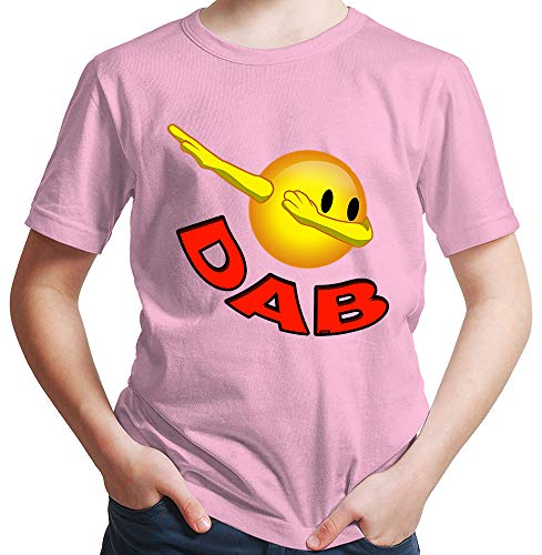HARIZ  Jungen T-Shirt Smiley Dab Dab Teenager Trend Halloween Inkl. Geschenk Karte Rosa 98/2-3 Jahre