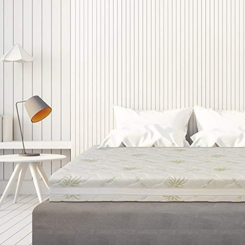 Baldiflex materasso super top matrimoniale con rivestimento sfoderabile in aloe vera, misura 160x190x23cm