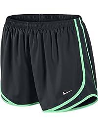 Nike Running para mujer Tempo Track Pantalones Cortos De 3.5–Pequeño, color negro y verde Glow