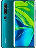 "Xiaomi Mi Note 10 Smartphone, 6 GB RAM + 128 GB ROM, Schermo 3D Curved Amoled 6.47"", Penta Camera 108 MP, 5260 mAh, Aurora Green"