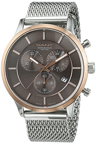 Gant Time Men's Quartz Watch with Black Dial Analogue Display Quartz Stainless Steel GT002001
