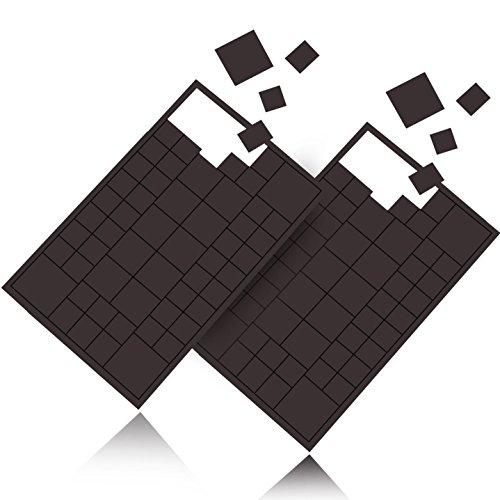 Reorda 116 Stück selbstklebende Magnet Plättchen - Optimierte Magnetstärke I Individuell zuschneidbare Magnetplättchen für Postkarten, Fotos etc. - 4 verschiedene Größen